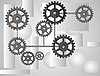 Vector clipart: Gray background with the gears