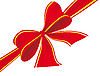 Vector clipart: Big bow of red ribbon