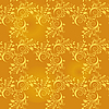 Vector clipart: Seamless background of gold leaf