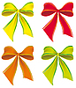 Vector clipart: set of colorful bows