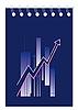 Векторный клипарт: Синяя тетрадь с графиком
