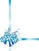 Векторный клипарт: голубая лента и цветы