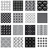 Vector clipart: Collection of seamless backgrounds black and white