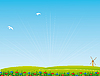 Vector clipart: hilly landscape with road