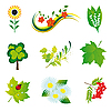 Vector clipart: Set of nature icons