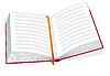 Векторный клипарт: Открытая книга с закладкой
