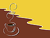 Vector clipart: cup of hot black coffee