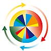 Circular diagram | Stock Foto