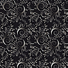 Vector clipart: Seamless floral background of black and white