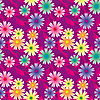 Vector clipart: Seamless background with colorful flowers