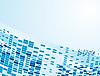 Векторный клипарт: Синем фоне геометрических фигур