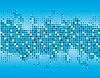 Векторный клипарт: Аннотация фоне синих квадратов