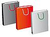 Векторный клипарт: Набор из трех бумажные пакеты
