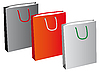 Vector clipart: A set of three paper bags