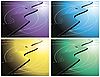 Vector clipart: A set of abstract backgrounds