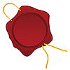 Vector clipart: Wax seal with rope