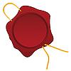 Векторный клипарт: Восковая печать с веревкой