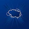 Векторный клипарт: Плакат с баннером в голубом свете