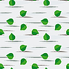 Vector clipart: Seamless background from birch leaves