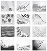 Векторный клипарт: Коллекция фонов от металлических частей