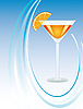 Векторный клипарт: Стакан апельсинового сока