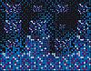 Векторный клипарт: Синих квадратов на черном фоне