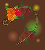 Vector clipart: Orange flowers