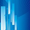 Векторный клипарт: Аннотация синий фон