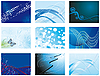 Vector clipart: Collection of blue abstract backgrounds