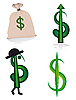 Vector clipart: Collection of dollar signs