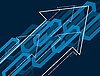 Vector clipart: Abstract blue background