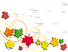 Vector clipart: Abstract background with autumn leaves