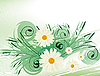 Vector clipart: Abstract background with white daisies