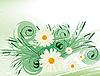 Векторный клипарт: Абстрактный фон с белыми ромашками