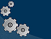 Vector clipart: Blue abstract background with gears