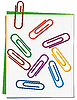 Vector clipart: Set of colored paper clips