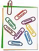 Векторный клипарт: Набор цветных скрепки