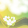 Vector clipart: Abstract mosaic background with flowers