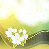 Векторный клипарт: Абстрактный фон мозаики с цветами