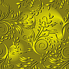 Vector clipart: Seamless background with gold leaves