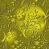 Векторный клипарт: Бесшовные фон с золотыми листьями