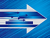 Vector clipart: Blue background with the arrows