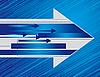 Векторный клипарт: Голубой фон с помощью стрелок