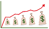 Vector clipart: Chart with money bags