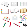 Vector clipart: Collection of stationery for the office