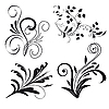Vector clipart: Set of floral design elements