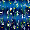 Vector clipart: Christmas background with white snowflakes