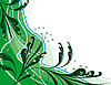 Vector clipart: Abstract green background with plants