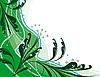 Векторный клипарт: Аннотация зеленом фоне с растениями