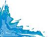 Векторный клипарт: Абстрактный фон с водой и пузырьками